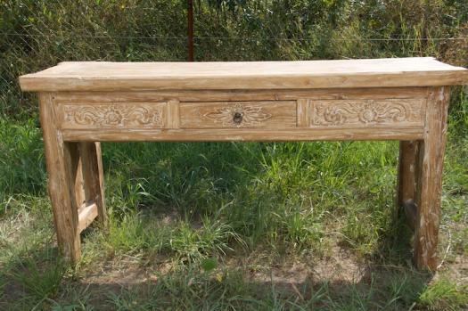 Antik konzolasztal faragott