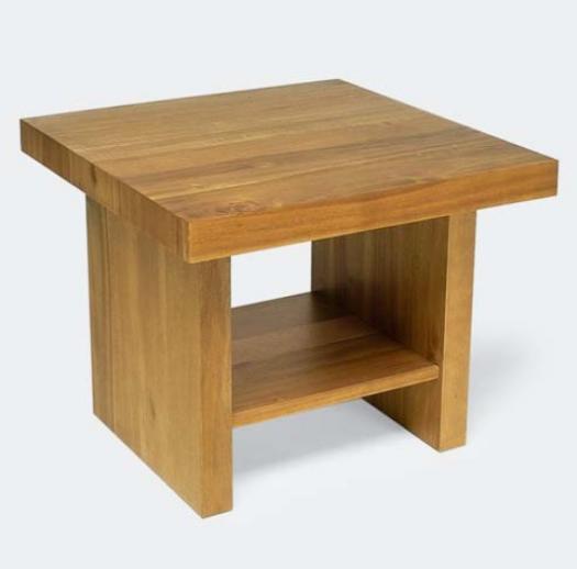Design dohányzóasztal olajozott akác 60cm