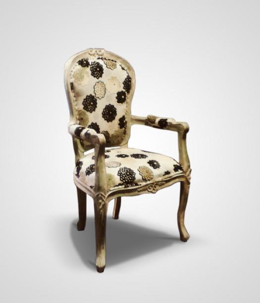 Antik szék virágos
