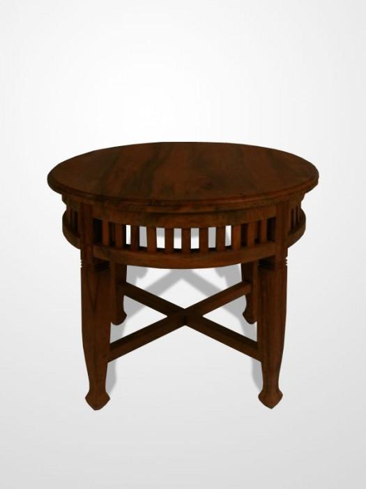 Gyarmat kisasztal 55cm és 65cm sötét és világos teakfa